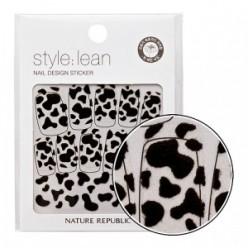Наклейки-стикеры для ногтей NATURE REPUBLIC Style Lean Nail Design Sticker #06 Black Cow 10strips