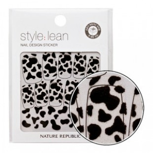 Наклейки-стикеры для ногтей NATURE REPUBLIC Style Lean Nail Design Sticker #06 Black Cow 10strips