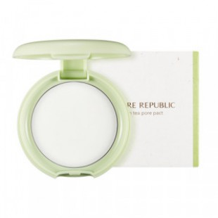 Пудра для лица NATURE REPUBLIC Green tea Pore Pact 8.5g