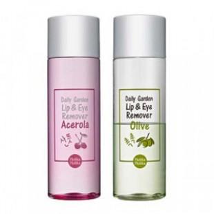 Жидкость для удаления стойкого макияжа HOLIKAHOLIKA Daily Garden Lip & Eye Remover 100ml