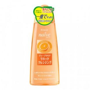 Kracie Naive Deep Clear Cleansing Liquid Orange 170ml