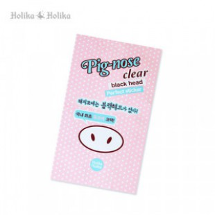 HOLIKAHOLIKA Pig-nose Clear Black head Perfect sticker 1 sheet