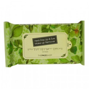 THE FACE SHOP Herb Day Lip & Eye Makeup Remover Tissue 30sheets