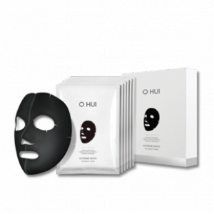 Черная тканевая маска с эффектом отбеливания OHUI White Extreme 3D Black Mask (27g x 6P)