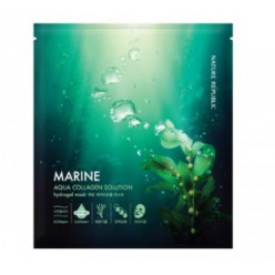 Гидрогелевая маска для лица с морским коллагеном NATURE REPUBLIC Aqua Collagen solution Marine Hydrogel mask