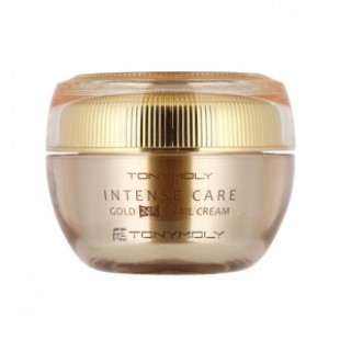 Крес с экстрактом муцина улитки TONYMOLY Intense Care Gold 24K Snail Cream 45ml