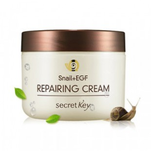 Восстанавливающий крем для лица SECRETKEY Snail Repairing Cream 50g.