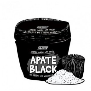 Маска для лица [MERRYSHOP] B&SOAP Apate Black Fresh wash off pack