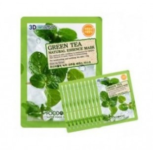 Маска для лица FOOD A HOLIC 3D Natural Essence Mask [Green Tea] x10EA