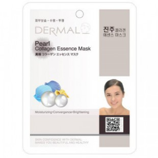 Коллагеновая маска для лица DERMAL Pearl Collagen Essence Mask 23g
