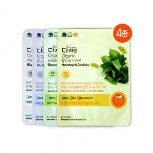 Тканевая маска для лица [MERRYSHOP] ALL NATURAL Organic Mask Sheet 25ml*4ps
