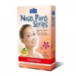 Очищающие полоски для носа Purederm Nose pore strips FLower