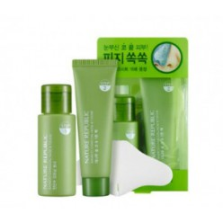 NATURE REPUBLIC Bamboo Charcoal Nose & T-Zone Pack 2 items