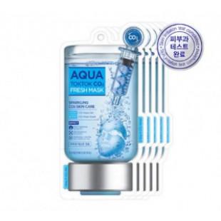Tosowoong Aqua TokTok Co2 Свежая маска [5 листов]