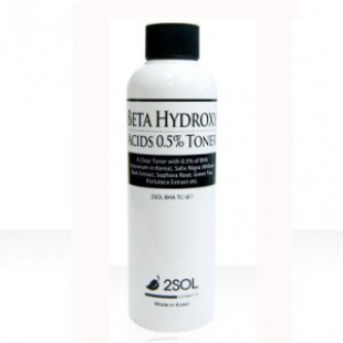 Тонер для лица 2SOL Beta Hydroxy Acids 0.5% Toner 200ml