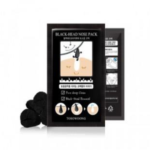Пластырь для очищения пор TOSOWOONG Black Head Nose Pack 4P/Box
