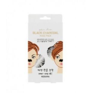 Nesura Pore Deep Charcoal Strip For Nose Care Pack 8pcs