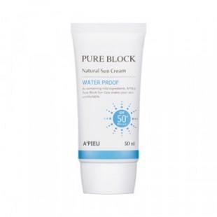 Солнцезащитный крем для тела A'PIEU Pure Block Natural Water-proof Sun cream SPF50+/PA+++ 50ml