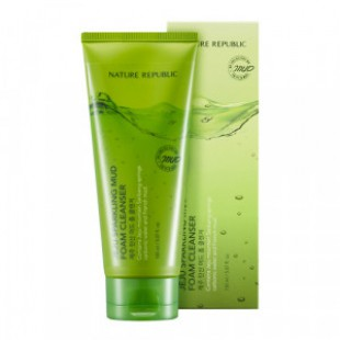 NATURE REPUBLIC Jeju Sparkling Mud Foam Cleanser 150ml