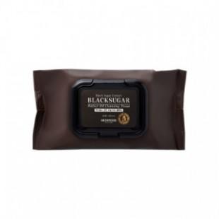 SKINFOOD Black Sugar Perfect Off Очищающая ткань 40ea