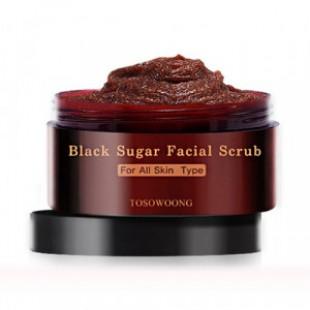 Скраб для лица TOSOWOONG Black Sugar Facial Scrub 160g