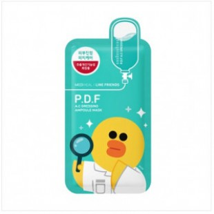 MEDIHEAL Line Friends PDF AC Dressing Ampoule Mask 1box (10 шт.)