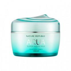 Увлажняющий крем для лица NATURE REPUBLIC Super Aqua Max Combination Watery Cream 80ml (GREEN)
