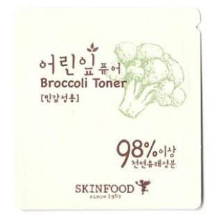 Тонер для лица Skinfood Young leaves Pure Broccoli Toner 2ml*10ea