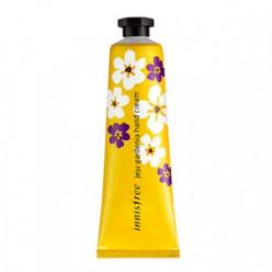 Крем для рук INNISFREE Jeju Gardenia Hand Cream 30ml  Крем для рук с ароматом гардении усилен маслом Ши.Крем с насыщенной текстурой и тонким ароматом глубоко увлажняет, смягчает и питает кожу рук.  Обладает мягкой текстурой, отлично увлажняет кожу. Крем б
