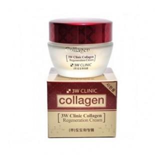 Регенерирующий крем с коллагеном 3W CLINIC Collagen Regeneration Cream 60ml