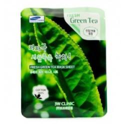3W CLINIC Свежая маска лист [Зеленый чай] X10 лист