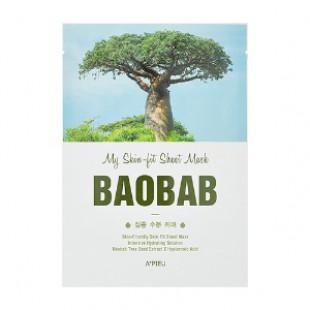APIEU My Skin - подходящая листовая маска - Baobab 25g