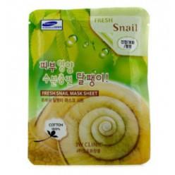 3W CLINIC Свежая маска-лист [Snail] X10sheet