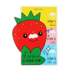 TONYMOLY Homeless Strawberry Seeds 3-Step Nose Pack