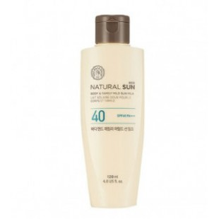 THE FACE SHOP Natural Sun Eco Body & Family Mild Sun Milk SPF40 PA+++ 120ml